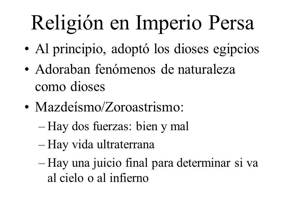 Religión en Imperio Persa