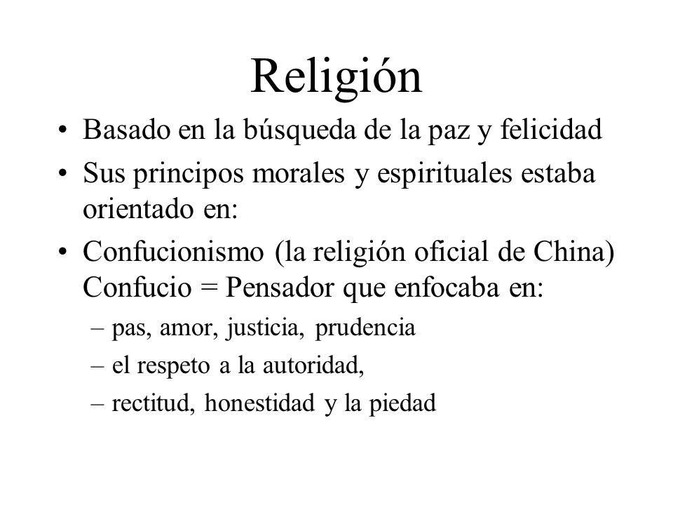 Religión Basado en la búsqueda de la paz y felicidad