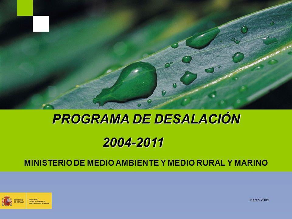 PROGRAMA DE DESALACIÓN 2004-2011