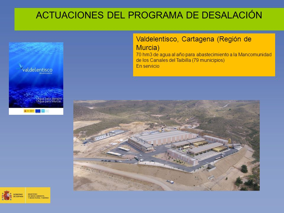 ACTUACIONES DEL PROGRAMA DE DESALACIÓN