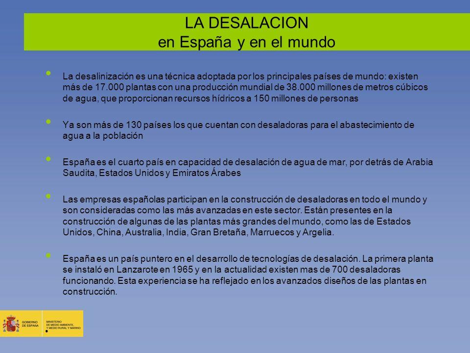 LA DESALACION en España y en el mundo