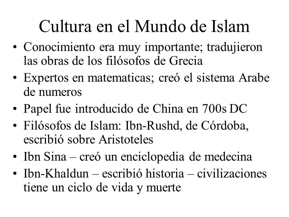 Cultura en el Mundo de Islam