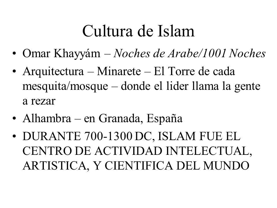 Cultura de Islam Omar Khayyám – Noches de Arabe/1001 Noches