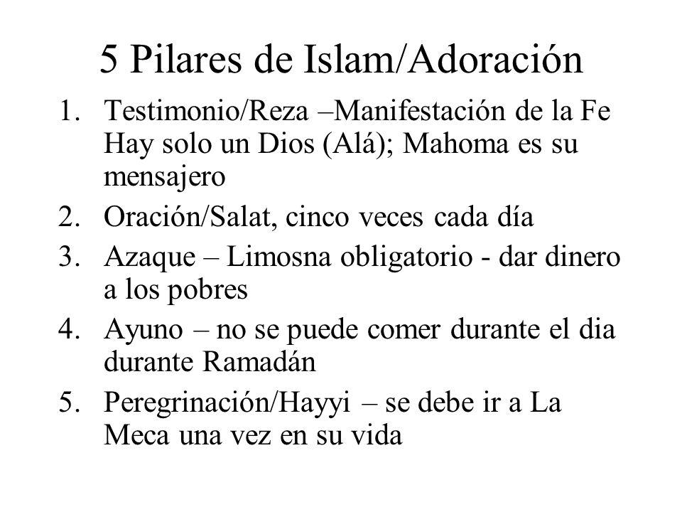 5 Pilares de Islam/Adoración