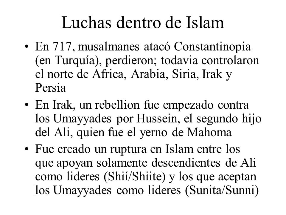 Luchas dentro de Islam
