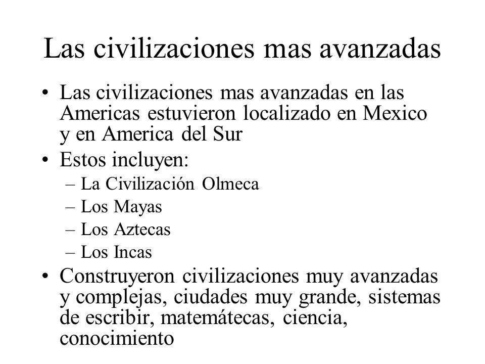 Las civilizaciones mas avanzadas