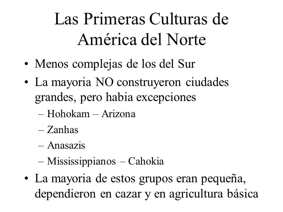 Las Primeras Culturas de América del Norte