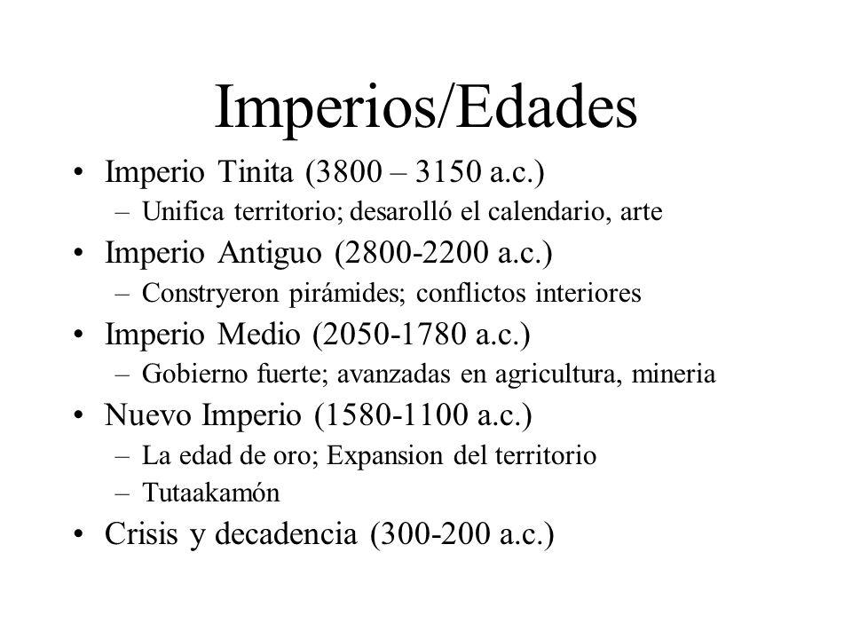 Imperios/Edades Imperio Tinita (3800 – 3150 a.c.)