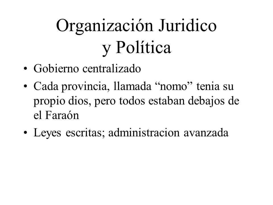Organización Juridico y Política