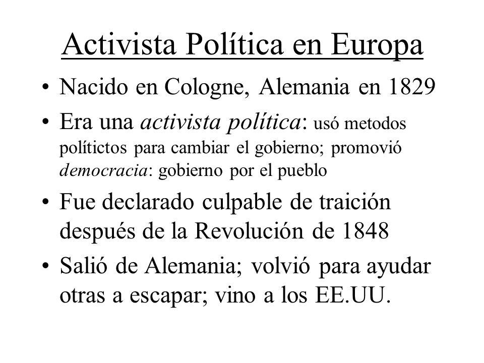Activista Política en Europa