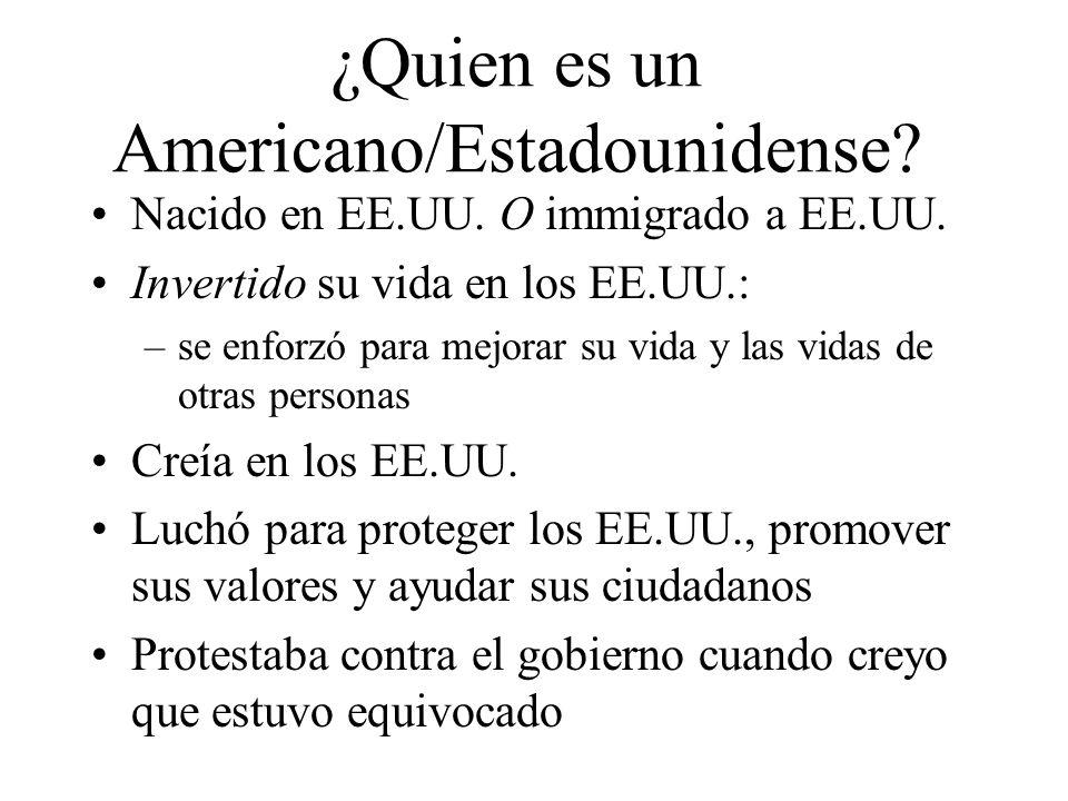 ¿Quien es un Americano/Estadounidense