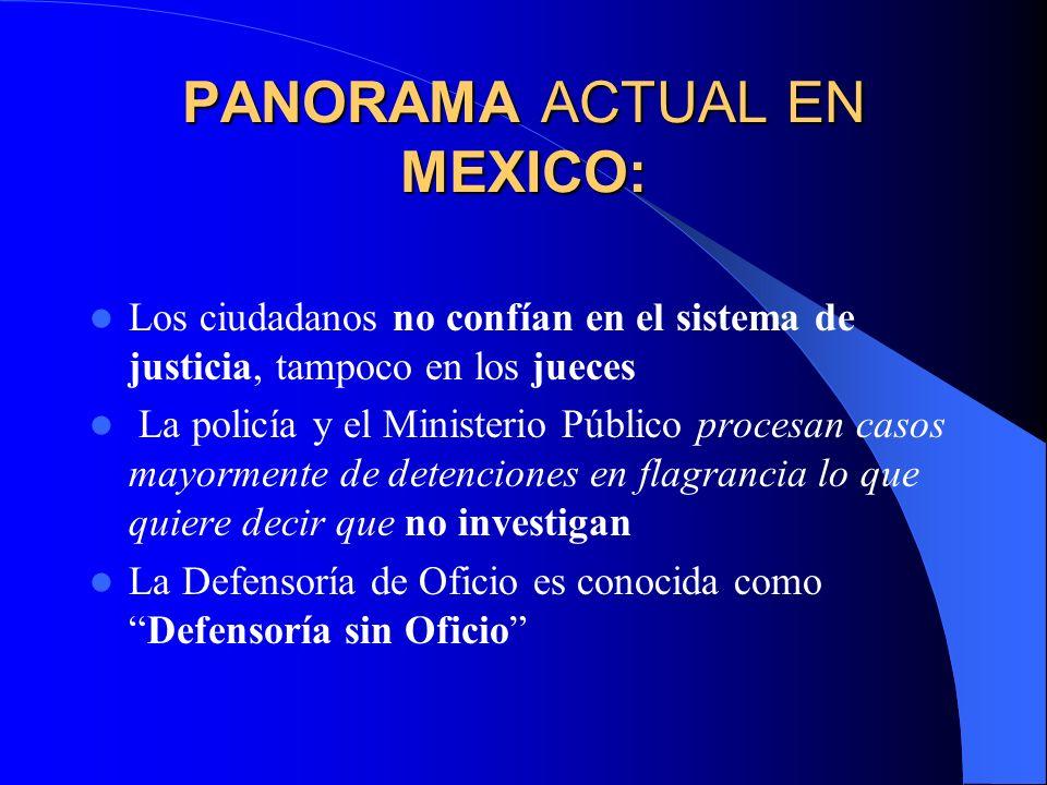 PANORAMA ACTUAL EN MEXICO: