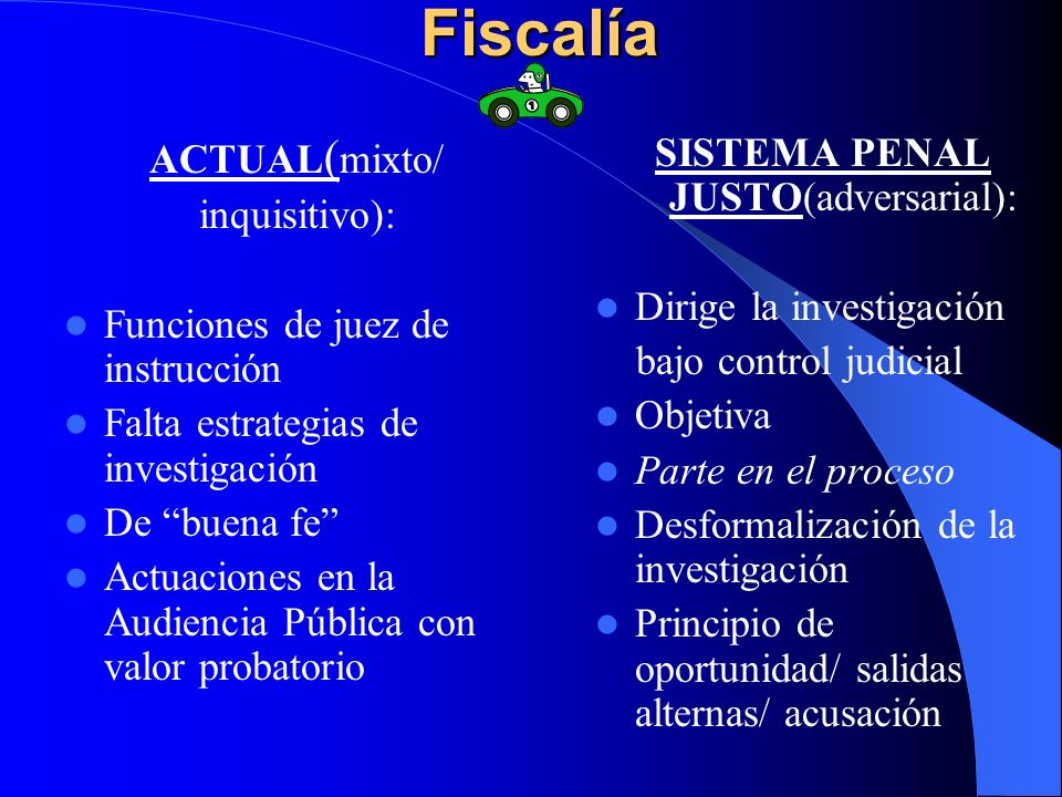 SISTEMA PENAL JUSTO(adversarial):