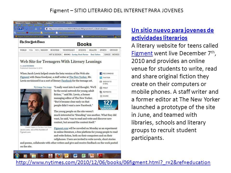 Figment – SITIO LITERARIO DEL INTERNET PARA JOVENES