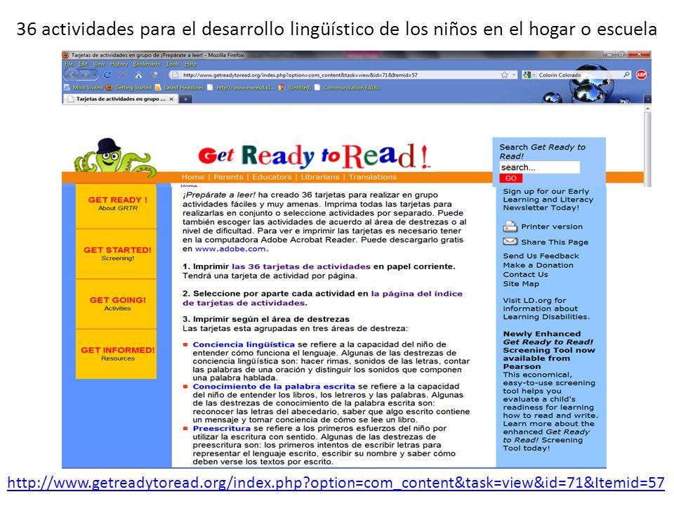 36 actividades para el desarrollo lingüístico de los niños en el hogar o escuela