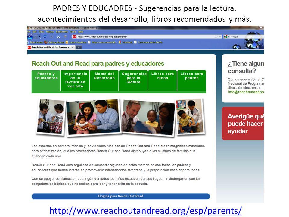 PADRES Y EDUCADRES - Sugerencias para la lectura, acontecimientos del desarrollo, libros recomendados y más.
