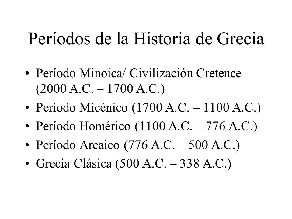 Períodos de la Historia de Grecia