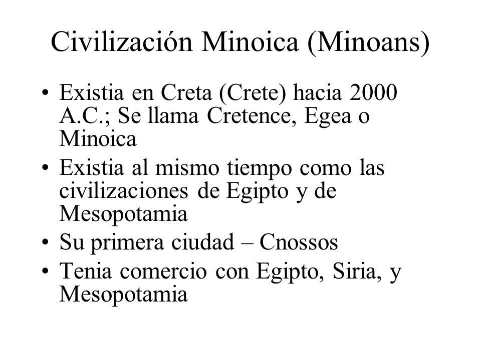 Civilización Minoica (Minoans)