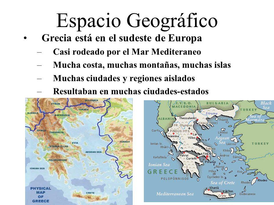 Espacio Geográfico Grecia está en el sudeste de Europa