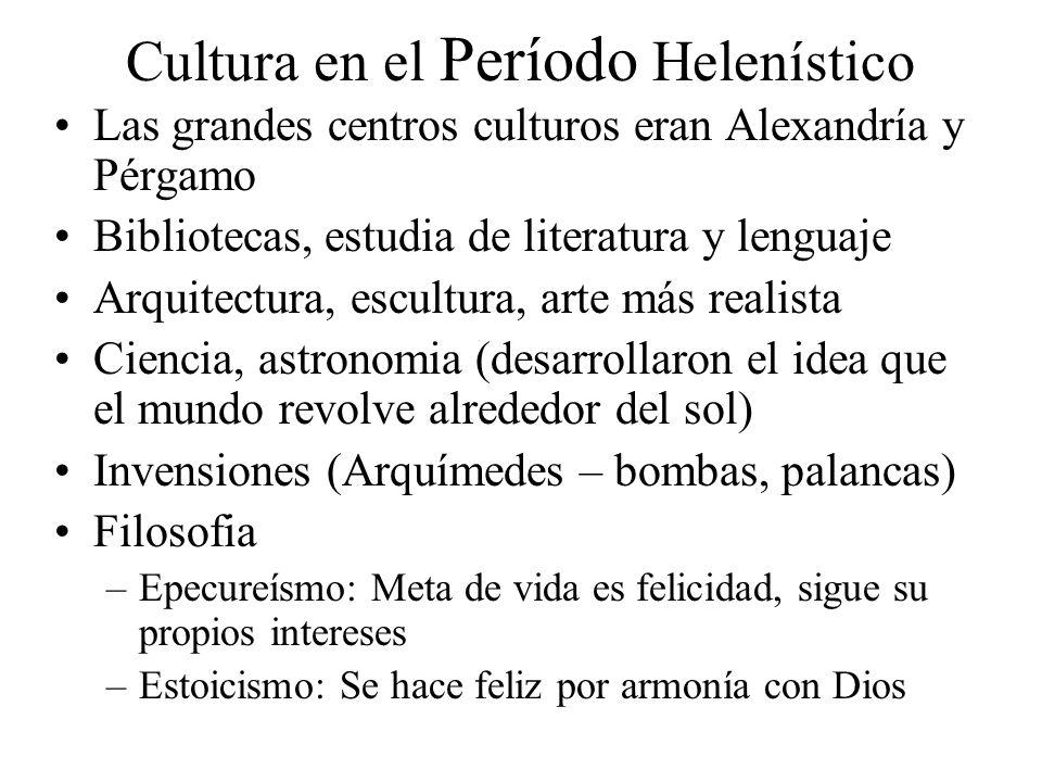 Cultura en el Período Helenístico