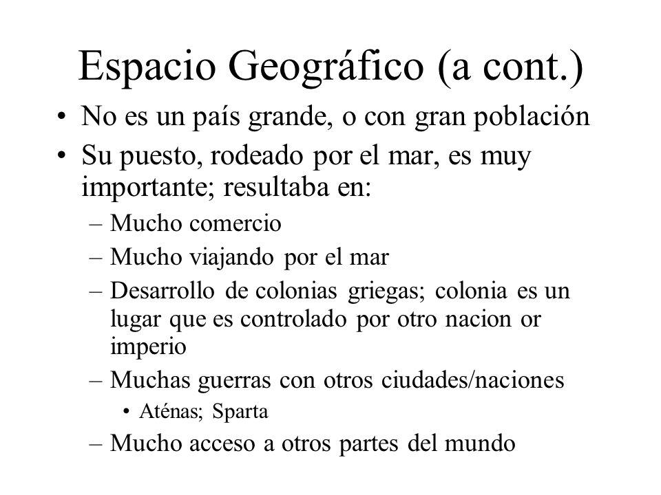 Espacio Geográfico (a cont.)