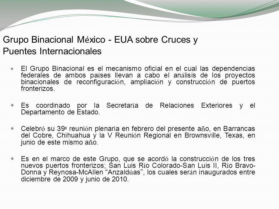 Grupo Binacional México - EUA sobre Cruces y Puentes Internacionales
