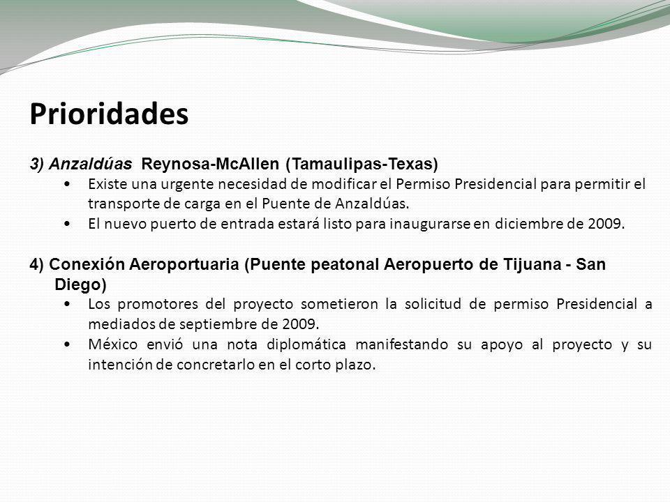 Prioridades 3) Anzaldúas Reynosa-McAllen (Tamaulipas-Texas)