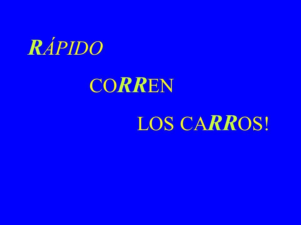 RÁPIDO CORREN LOS CARROS!