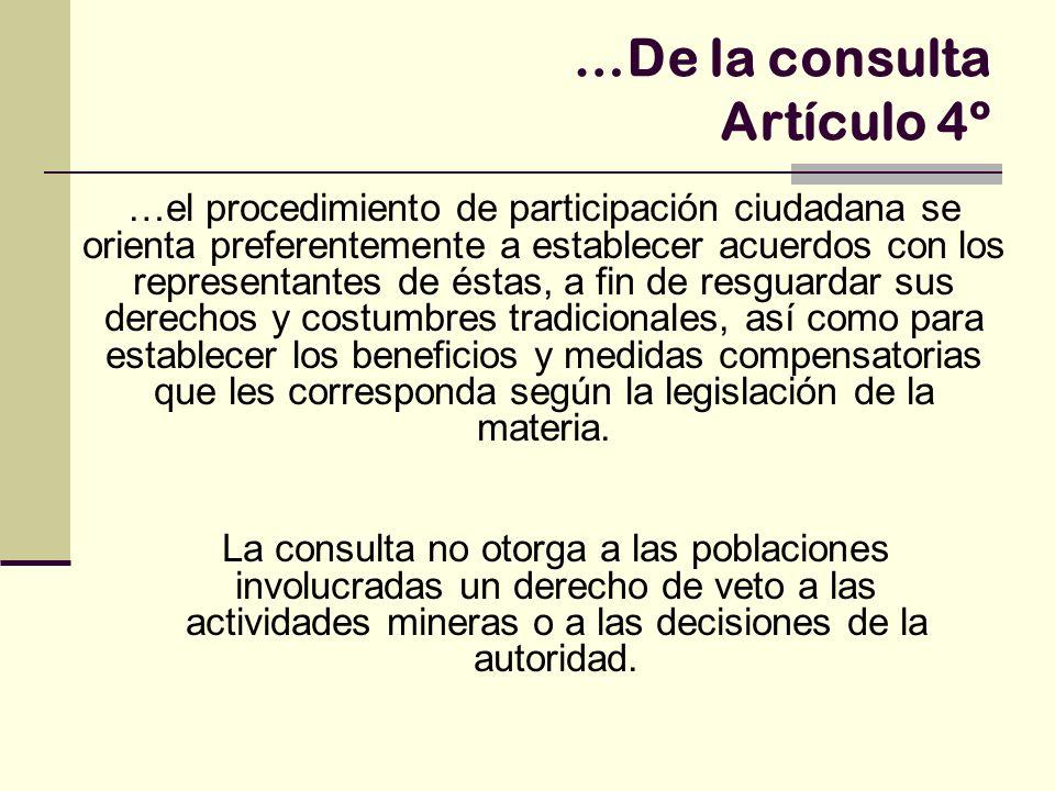 …De la consulta Artículo 4º