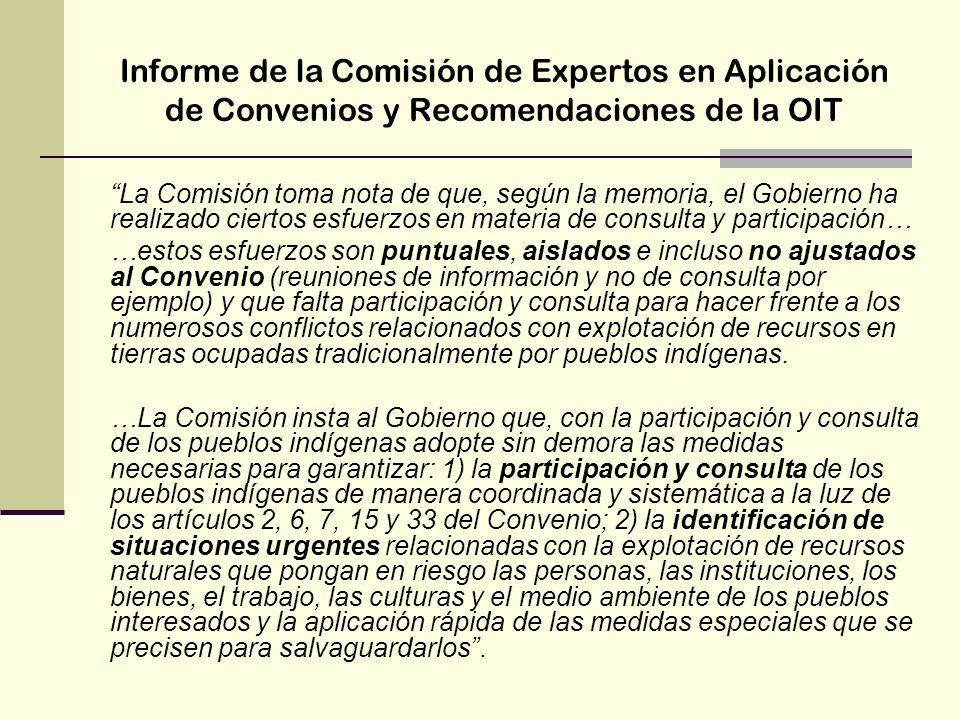 Informe de la Comisión de Expertos en Aplicación de Convenios y Recomendaciones de la OIT