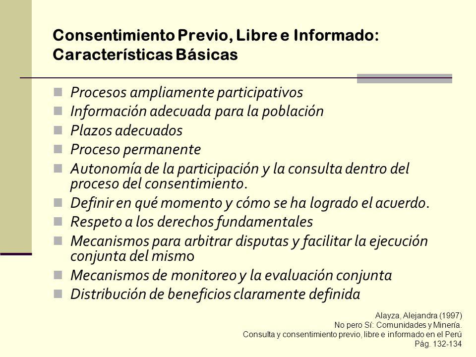 Consentimiento Previo, Libre e Informado: Características Básicas