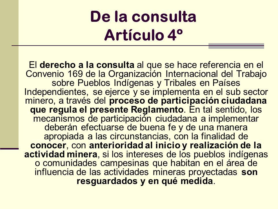 De la consulta Artículo 4º