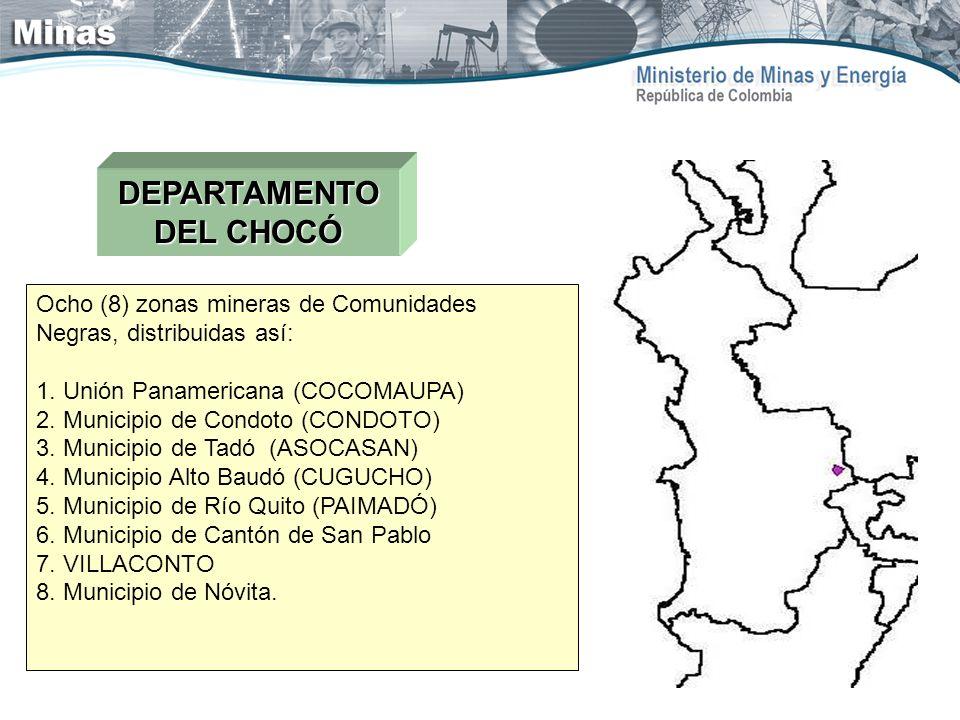 DEPARTAMENTO DEL CHOCÓ