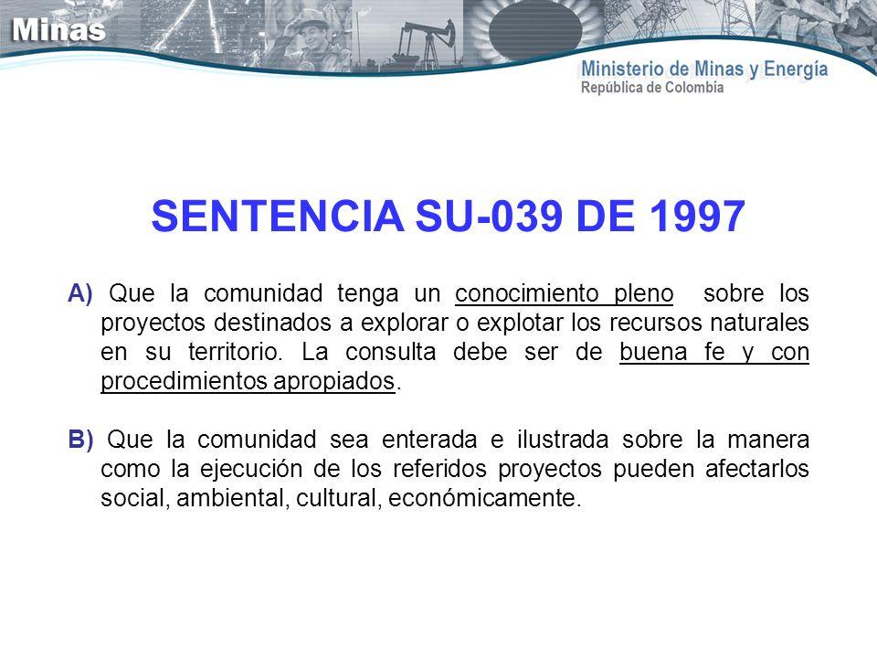 SENTENCIA SU-039 DE 1997