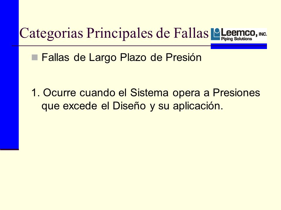 Categorias Principales de Fallas