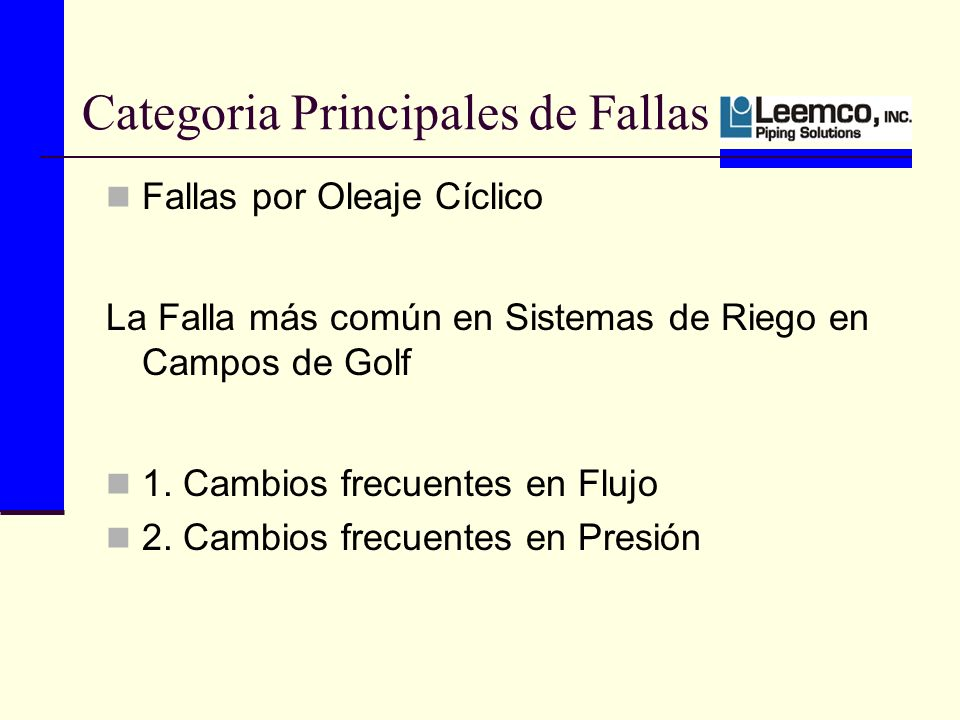 Categoria Principales de Fallas