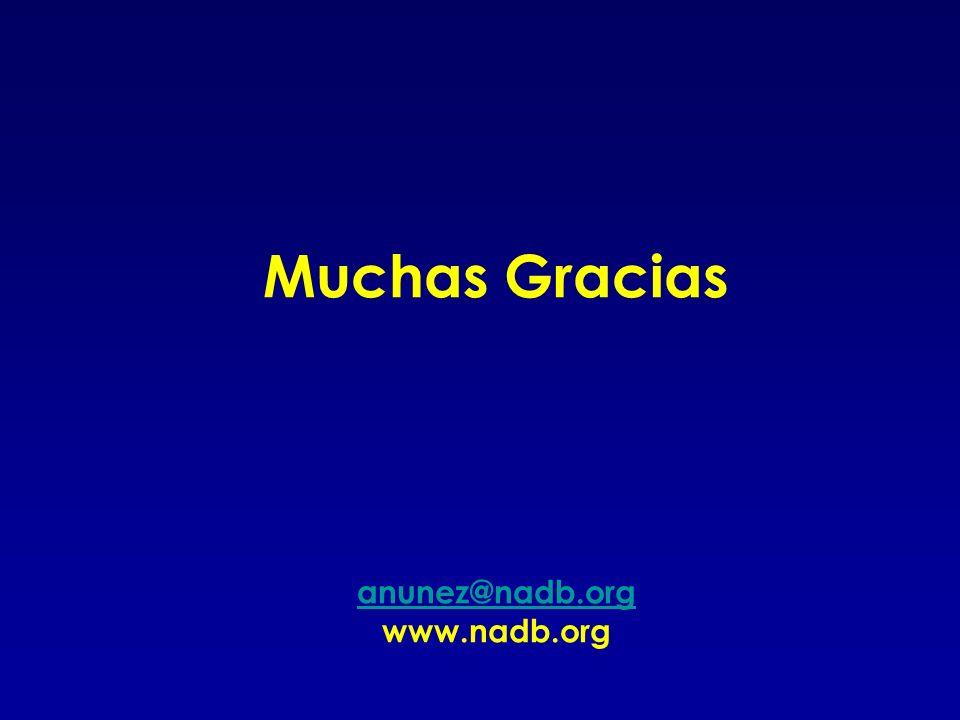 Muchas Gracias anunez@nadb.org www.nadb.org