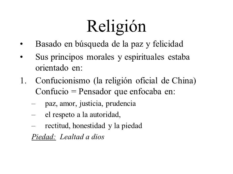Religión Basado en búsqueda de la paz y felicidad