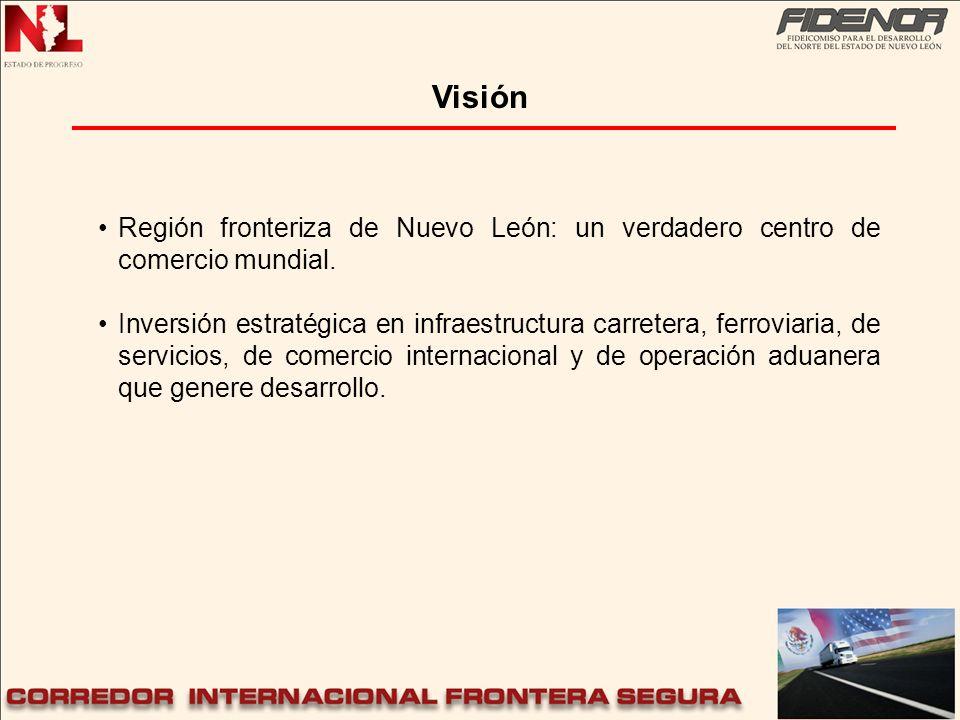 Visión Región fronteriza de Nuevo León: un verdadero centro de comercio mundial.