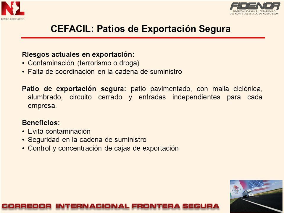 CEFACIL: Patios de Exportación Segura