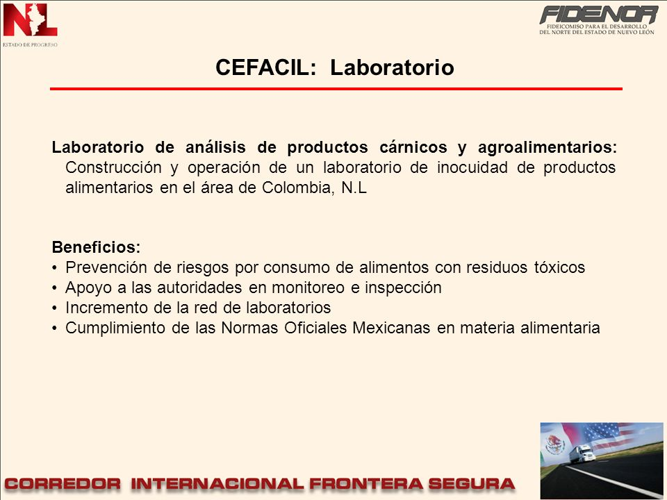 CEFACIL: Laboratorio