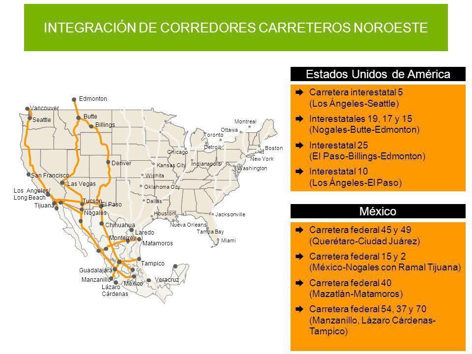 INTEGRACIÓN DE CORREDORES CARRETEROS NOROESTE
