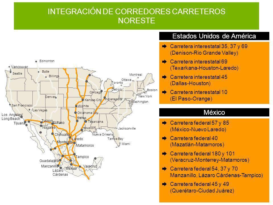 INTEGRACIÓN DE CORREDORES CARRETEROS NORESTE