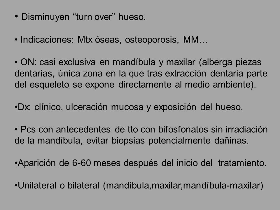Disminuyen turn over hueso.