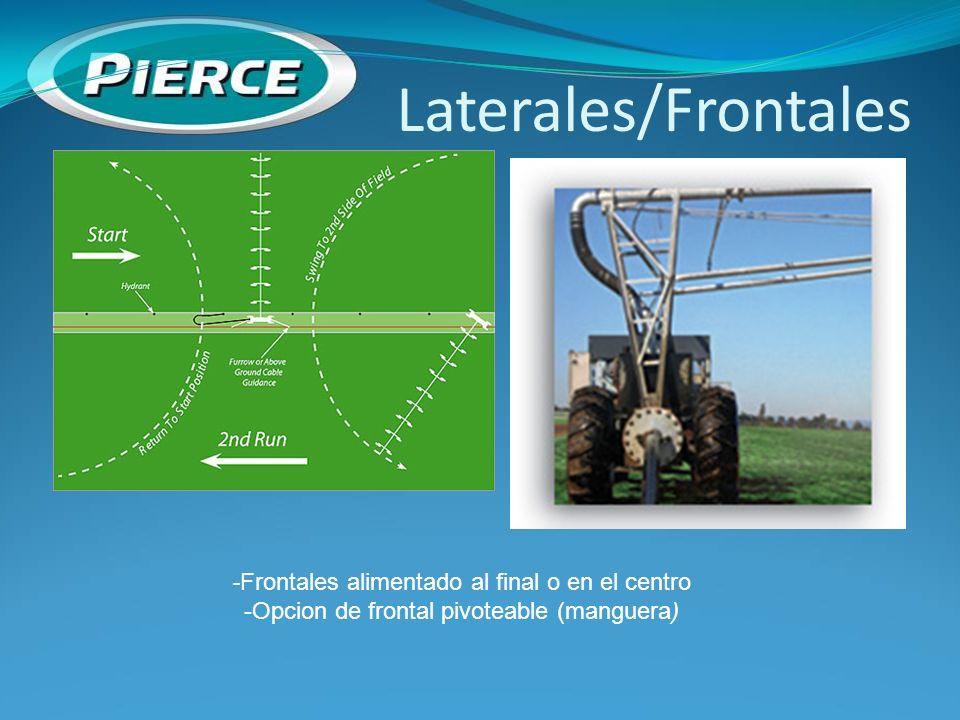 Laterales/Frontales -Frontales alimentado al final o en el centro
