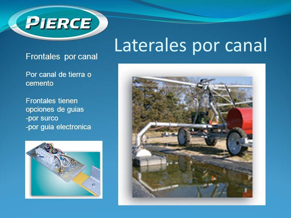 Laterales por canal Frontales por canal Por canal de tierra o cemento