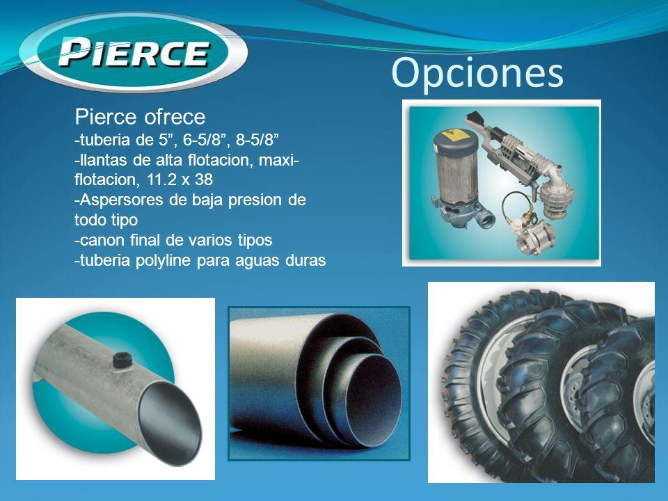 Opciones Pierce ofrece -tuberia de 5 , 6-5/8 , 8-5/8