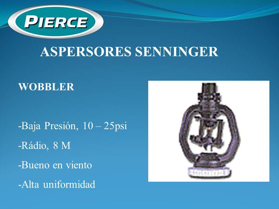 ASPERSORES SENNINGER WOBBLER -Baja Presión, 10 – 25psi -Rádio, 8 M