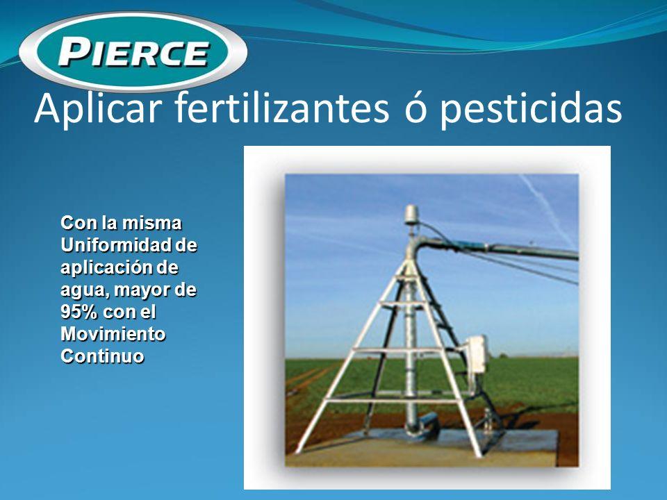 Aplicar fertilizantes ó pesticidas