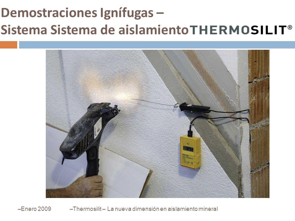Demostraciones Ignífugas – Sistema Sistema de aislamiento